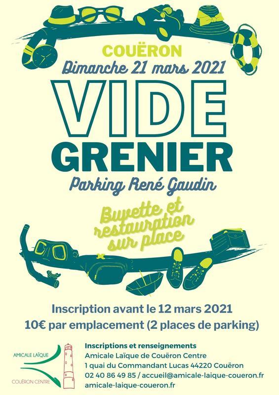 Vide grenier 2021 Couëron à Couëron (44220)   Tous Voisins